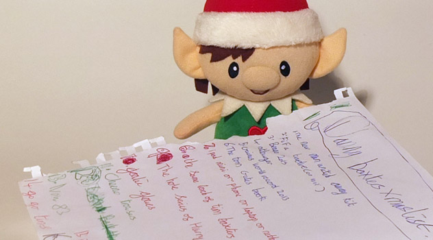 Christmas Elf with Letter to Santa