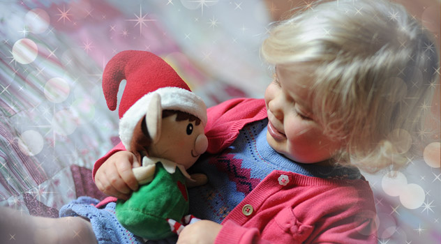 Young Girl With Christmas Elf